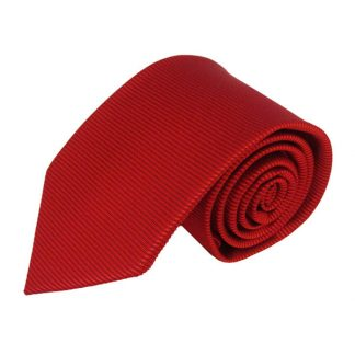 "63"" XL Solid Red Tone on Tone Stripe Men's Tie 11158"