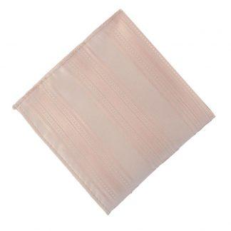 Nude Pink Tone on Tone Stripe Pocket Square 11180