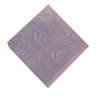 Solid Lavender Paisley Pocket Square 11187