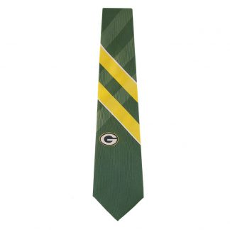 NFL Green Bay Packers Dark Green & Gold Grid Tie 1190