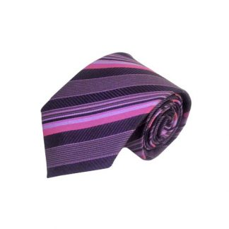 Black & Fuschia Stripe Men's Tie 2165-0