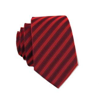Red, Burgundy Stripe Skinny Men's Tie 2754