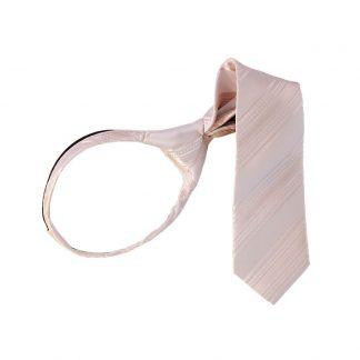 """11"""" Nude Pink Tone on Tone Stripe Boy's Zipper Tie 4398"""