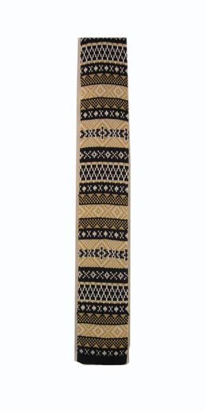 Navy Tan Fairisle Print Knit SkinnyMen's Tie