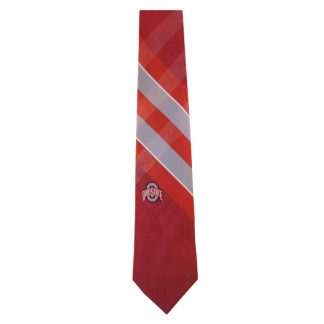 Ohio State Scarlet & Gray Grid Tie 8086