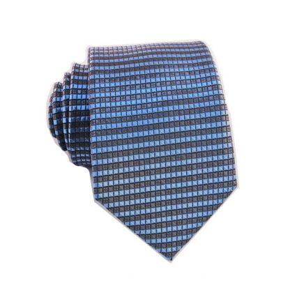 "49"" Boy's Charcoal, Light Blue Tie 8258"