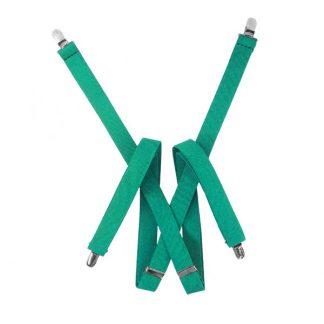 Solid Teal Suspenders 9007