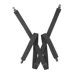 Solid Gray Suspenders 9486