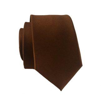 Dark Brown Solid Men's Skinny Tie 10612