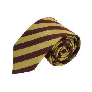 """63"""" XL Burgundy, Gold Stripe Men's Tie"""