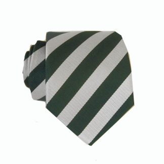 "48"" Green, Silver Stripe Boy's Tie"