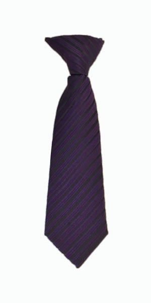 """8"""" Clip, Dark Purple and Black Stripe"""