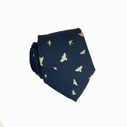 """48"""" Boy's Navy w/Tan Birds Tie 989"""