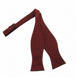 Burgundy With Red Dot To Tie Bow Tie