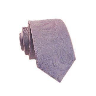 Lavender Paisley Skinny Men's Tie