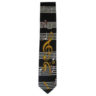 Music Staff w/ Notes Men's Tie 3136