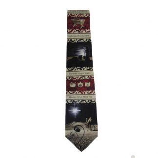 Let Us Adore Him Christmas Men's Silk Tie 4939