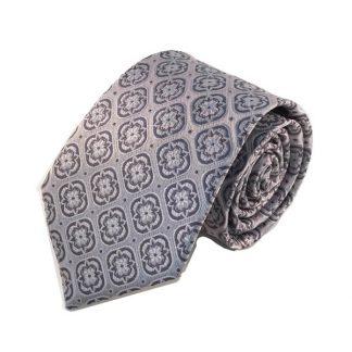 Silver, Gray Medallion Men's Tie