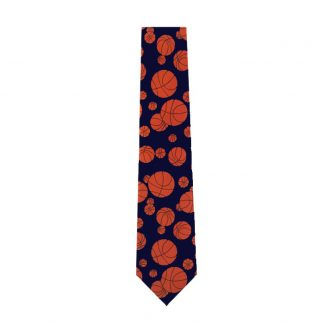 Basketballs on Navy Men's Tie 6726