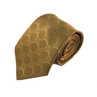 Bronze/Gold Circle Pattern Men's Tie