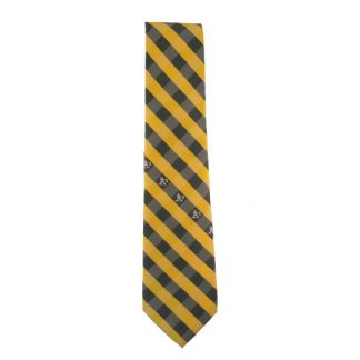 MLB Green & Yellow Oakland A's Men's Tie 10997