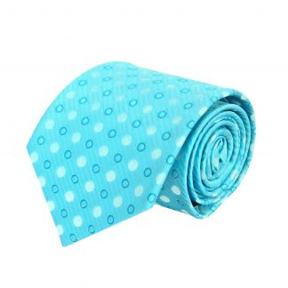 Aqua Polka Dot Men's Tie 1696-0
