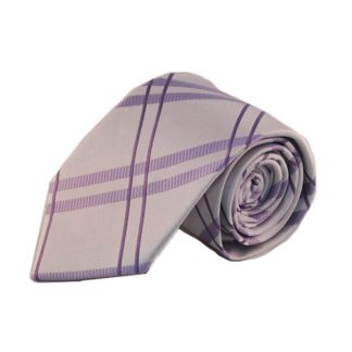 Lavender Criss Cross Men's Tie w/Pocket Square 5171-0