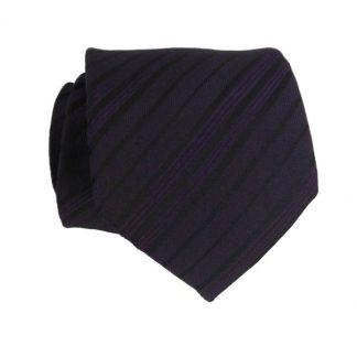 "49"" Purple & Black Stripe Boy's Tie 7728"