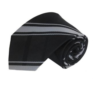 "63"" XL Black & Silver Criss Cross Men's Tie 6208"