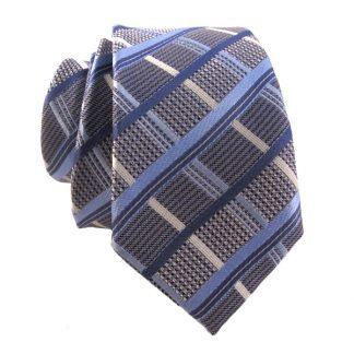 "49"" Light Blue & Grey Plaid Boy's Tie 1535"