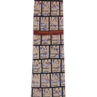 Eyeglass Chart Silk Men's Tie 4530