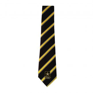 Army Black & Yellow Stripe Men's Novelty Tie 5716