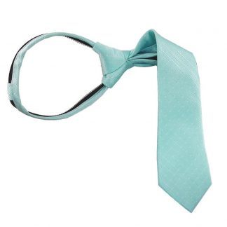 "14"" Aqua Tone on Tone Boy's Zipper Tie 8444"
