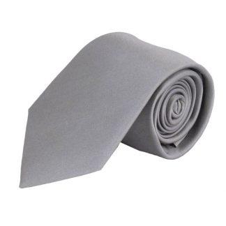 Light Grey Solid Silk Men's Tie 7650