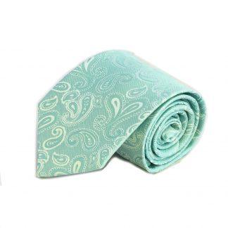 Aqua, Blue Paisley Men's Tie