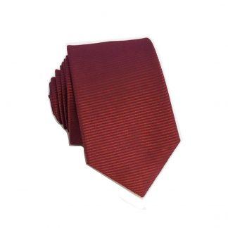 Burgundy Tone on Tone Horizontal Stripe Skinny Men's Tie