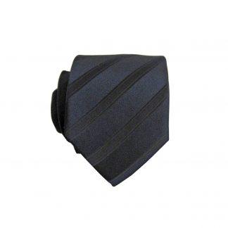 Black Tone on Tone Stripe Skinny Men's Tie 9369-0