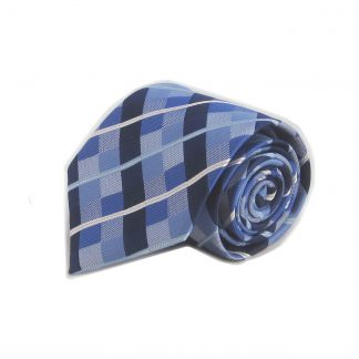 Blue, Navy Criss Cross Men's Tie