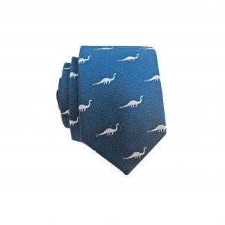 Navy, Gray Dinosaurs Skinny Tie