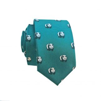 Green Panda Bears Skinny Tie