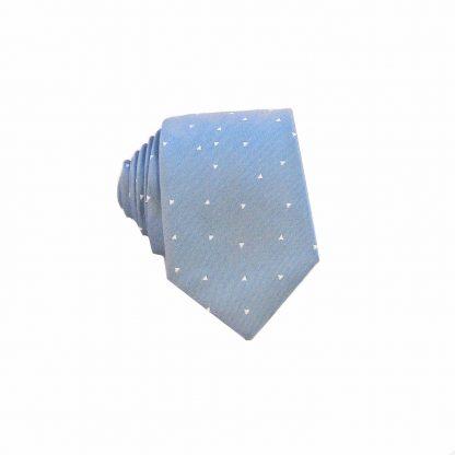 Blue Triangles Men's Skinny Tie