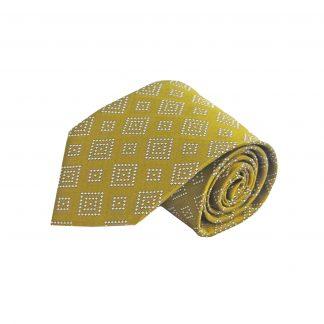 Mustard, Silver Squares Men's Tie