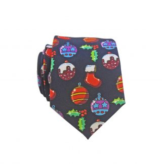 "49"" Boys Navy Ornaments Tie"