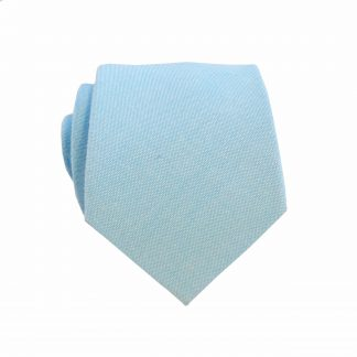 "49"" Boys Turquoise Solid Cotton Tie"