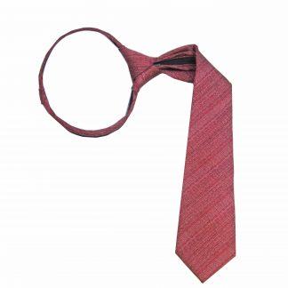 """14"""" Zip Medium Red Muted Texture Boy's Tie"""