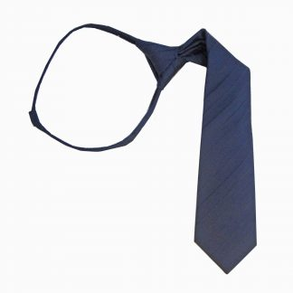 "14"" Zip Navy Tone on Tone Stripe Boy's Tie"