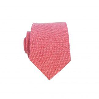 Red Solid Cotton Skinny Men's Tie