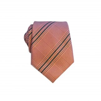 Burgundy, Black Criss Cross Men's Skinny Tie