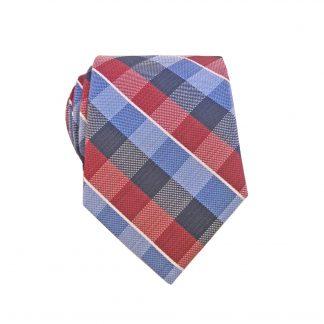 Red Blue Navy Criss Cross Men's Skinny Tie