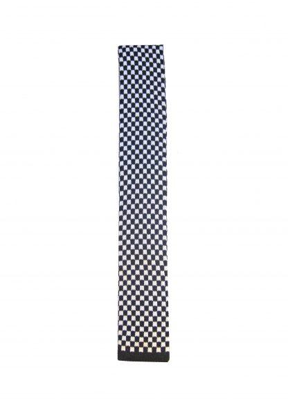 Black White Check Knit Men's Tie